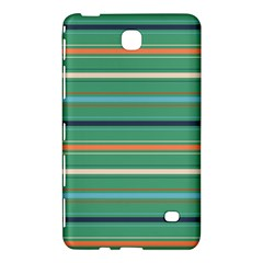 Horizontal Line Green Red Orange Samsung Galaxy Tab 4 (8 ) Hardshell Case  by Mariart