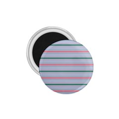 Horizontal Line Green Pink Gray 1 75  Magnets