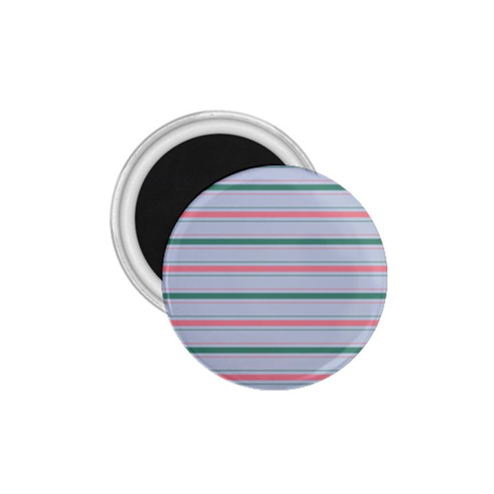 Horizontal Line Green Pink Gray 1.75  Magnets