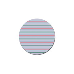 Horizontal Line Green Pink Gray Golf Ball Marker (4 Pack) by Mariart