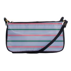 Horizontal Line Green Pink Gray Shoulder Clutch Bags by Mariart