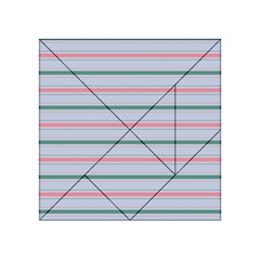 Horizontal Line Green Pink Gray Acrylic Tangram Puzzle (4  X 4 ) by Mariart