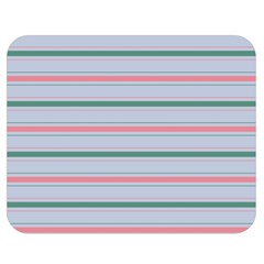 Horizontal Line Green Pink Gray Double Sided Flano Blanket (medium)  by Mariart