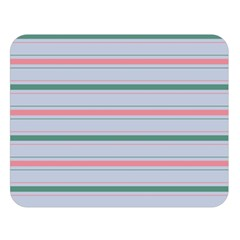 Horizontal Line Green Pink Gray Double Sided Flano Blanket (large)