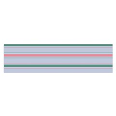 Horizontal Line Green Pink Gray Satin Scarf (oblong) by Mariart