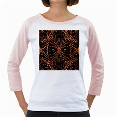 Golden Fire Pattern Polygon Space Girly Raglans by Mariart