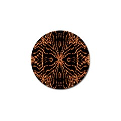Golden Fire Pattern Polygon Space Golf Ball Marker by Mariart