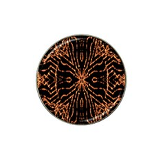 Golden Fire Pattern Polygon Space Hat Clip Ball Marker by Mariart