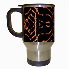 Golden Fire Pattern Polygon Space Travel Mugs (white) by Mariart