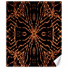 Golden Fire Pattern Polygon Space Canvas 20  X 24   by Mariart