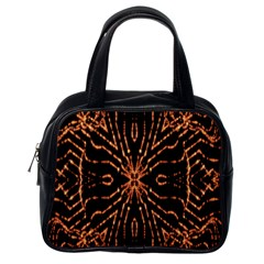 Golden Fire Pattern Polygon Space Classic Handbags (one Side) by Mariart