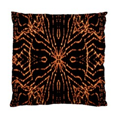 Golden Fire Pattern Polygon Space Standard Cushion Case (one Side) by Mariart