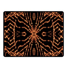 Golden Fire Pattern Polygon Space Fleece Blanket (small) by Mariart