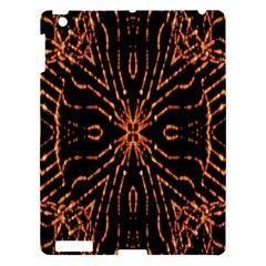 Golden Fire Pattern Polygon Space Apple Ipad 3/4 Hardshell Case by Mariart