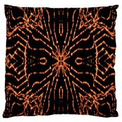 Golden Fire Pattern Polygon Space Large Cushion Case (two Sides) by Mariart