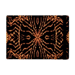 Golden Fire Pattern Polygon Space Apple Ipad Mini Flip Case by Mariart