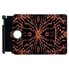 Golden Fire Pattern Polygon Space Apple Ipad 2 Flip 360 Case