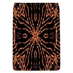 Golden Fire Pattern Polygon Space Flap Covers (s)  by Mariart