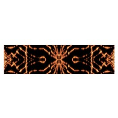 Golden Fire Pattern Polygon Space Satin Scarf (oblong) by Mariart