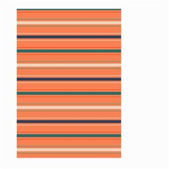 Horizontal Line Orange Large Garden Flag (two Sides) by Mariart