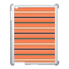 Horizontal Line Orange Apple Ipad 3/4 Case (white) by Mariart
