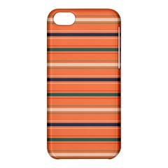 Horizontal Line Orange Apple Iphone 5c Hardshell Case by Mariart