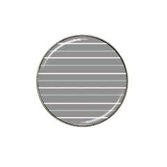 Horizontal Line Grey Pink Hat Clip Ball Marker (10 Pack) by Mariart