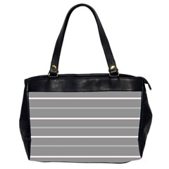 Horizontal Line Grey Pink Office Handbags (2 Sides)  by Mariart