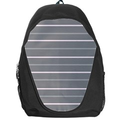 Horizontal Line Grey Pink Backpack Bag by Mariart