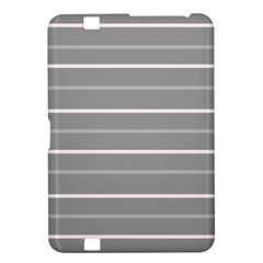 Horizontal Line Grey Pink Kindle Fire Hd 8 9  by Mariart