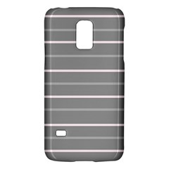 Horizontal Line Grey Pink Galaxy S5 Mini by Mariart