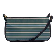 Horizontal Line Grey Blue Shoulder Clutch Bags by Mariart