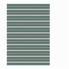 Horizontal Line Grey Blue Small Garden Flag (two Sides) by Mariart