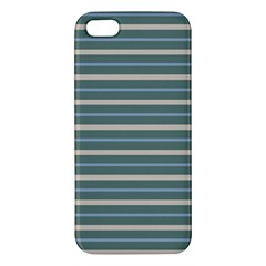 Horizontal Line Grey Blue Iphone 5s/ Se Premium Hardshell Case by Mariart