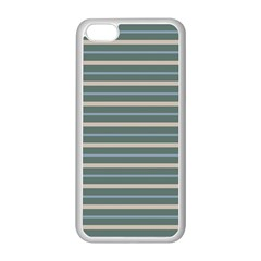 Horizontal Line Grey Blue Apple Iphone 5c Seamless Case (white) by Mariart