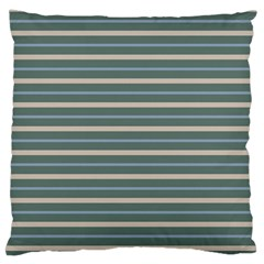 Horizontal Line Grey Blue Standard Flano Cushion Case (one Side) by Mariart