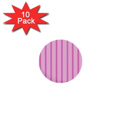 Line Pink Vertical 1  Mini Buttons (10 Pack)  by Mariart
