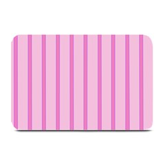 Line Pink Vertical Plate Mats by Mariart