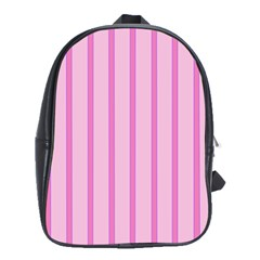 Line Pink Vertical School Bag (large) by Mariart