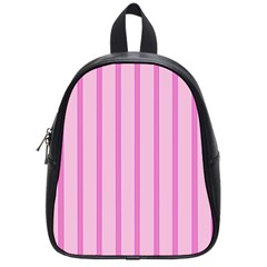 Line Pink Vertical School Bag (small) by Mariart