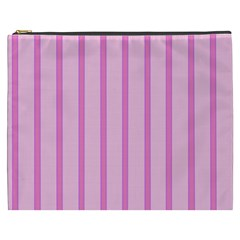 Line Pink Vertical Cosmetic Bag (xxxl)  by Mariart