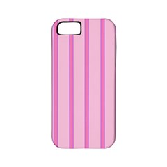 Line Pink Vertical Apple Iphone 5 Classic Hardshell Case (pc+silicone) by Mariart