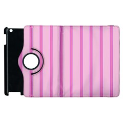 Line Pink Vertical Apple Ipad 3/4 Flip 360 Case by Mariart