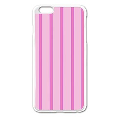 Line Pink Vertical Apple Iphone 6 Plus/6s Plus Enamel White Case by Mariart