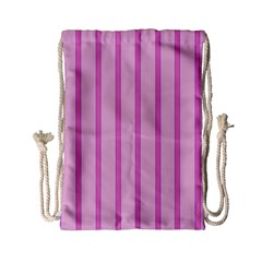 Line Pink Vertical Drawstring Bag (small) by Mariart