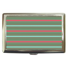 Horizontal Line Red Green Cigarette Money Cases by Mariart