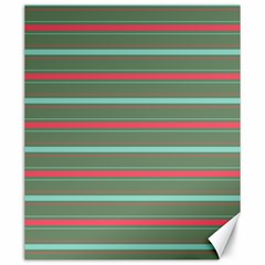 Horizontal Line Red Green Canvas 20  X 24   by Mariart