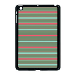 Horizontal Line Red Green Apple Ipad Mini Case (black) by Mariart