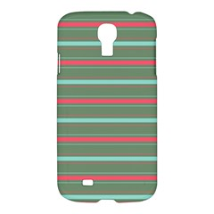 Horizontal Line Red Green Samsung Galaxy S4 I9500/i9505 Hardshell Case by Mariart