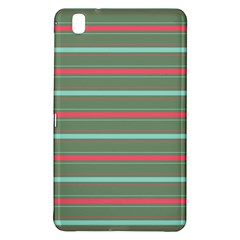 Horizontal Line Red Green Samsung Galaxy Tab Pro 8 4 Hardshell Case by Mariart